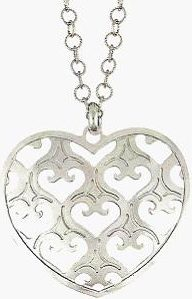 sterling silver heart charm and chain