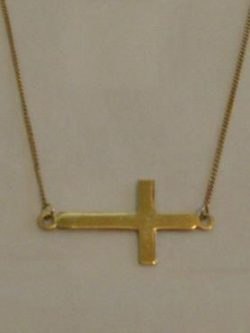 gold side cross chain