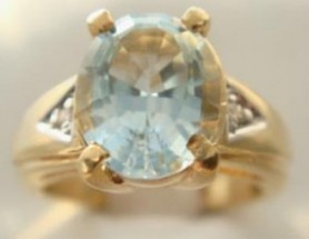 blue topaz and diamonds