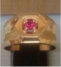 red stone mens ring
