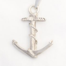 solid sterling silver anchor charm with chain