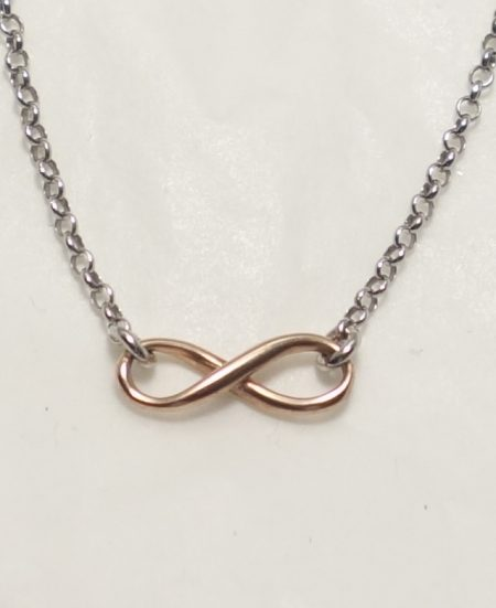 Sterling silver infinity charm and chain