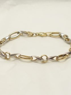 10k yellow and white gold ladies bracelet