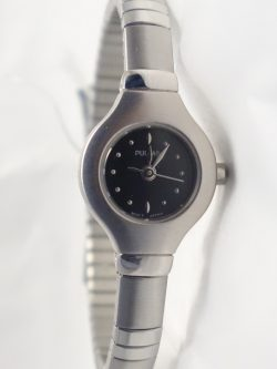 ladies white tone pulsar watch