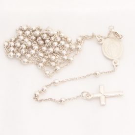 sterling silver long rosary