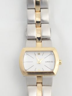 ladies yellow and white tone Lorus watch
