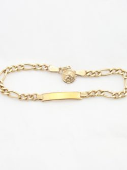 10k I.D. bracelet with angel medal