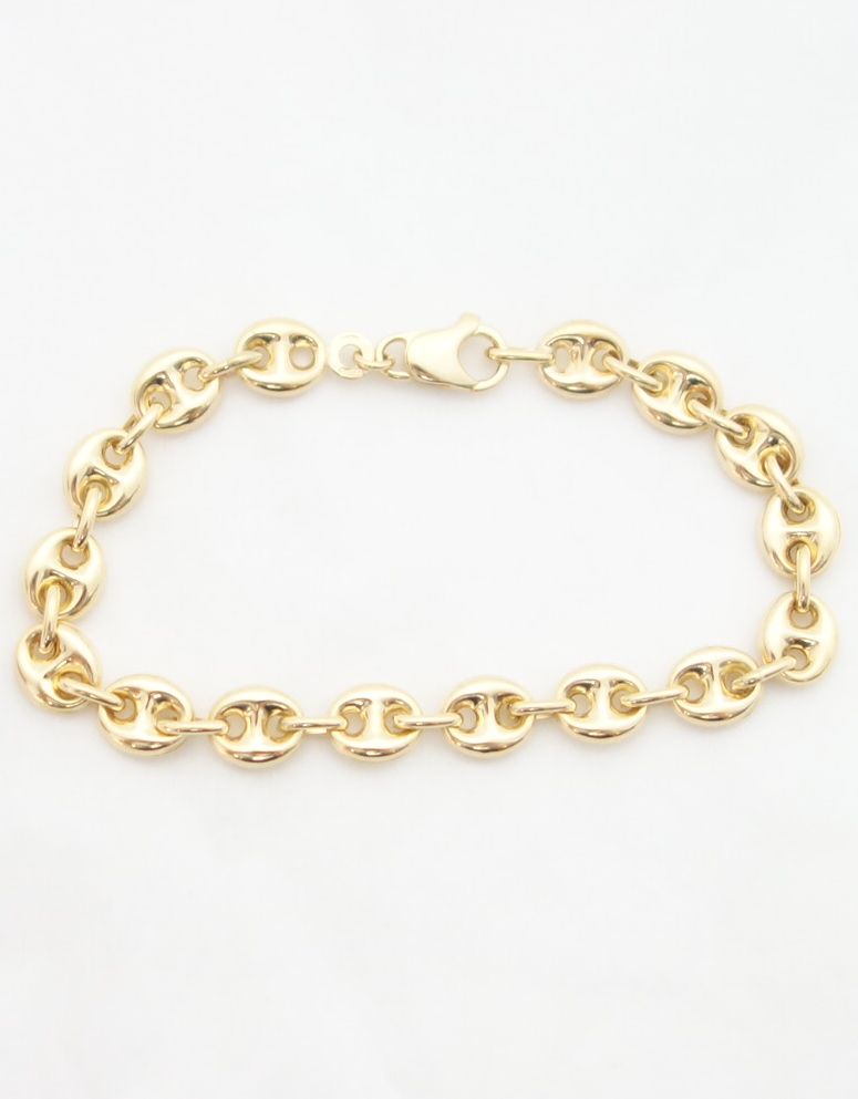 18k Yellow Gold Bracelet From Italy