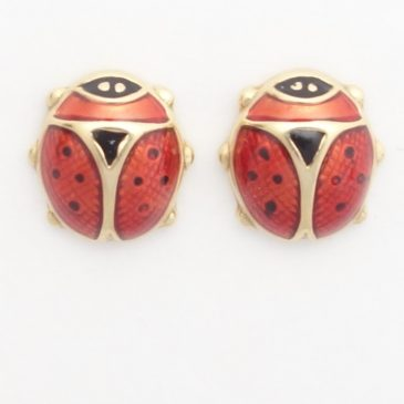 18k Ladybug Earrings from Italy: Tuesday's Triumphs