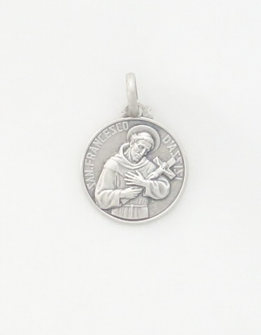 Sterling Silver St. Francis of Assisi Medal