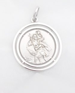 sterling silver st.Christopher medal