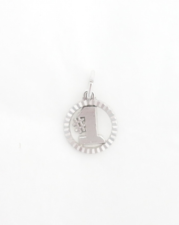 sterling silver #1 charm