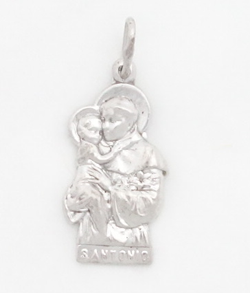 sterling silver St. Anthony Long Medal