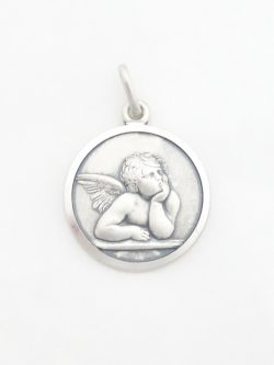 sterling silver angel medal med