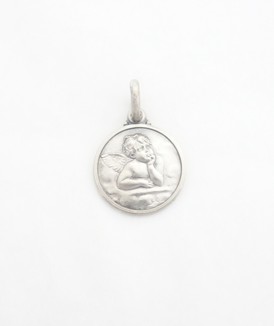 sterling silver angel medal sml