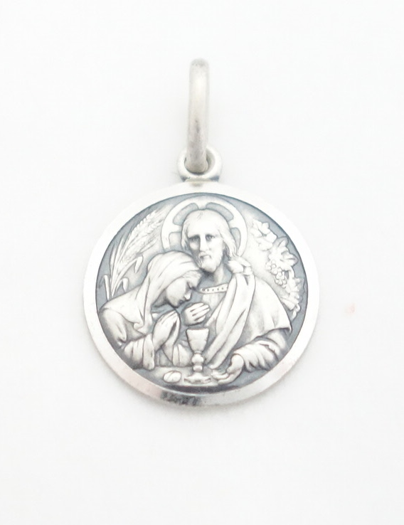 sterling silver first communion medal sml