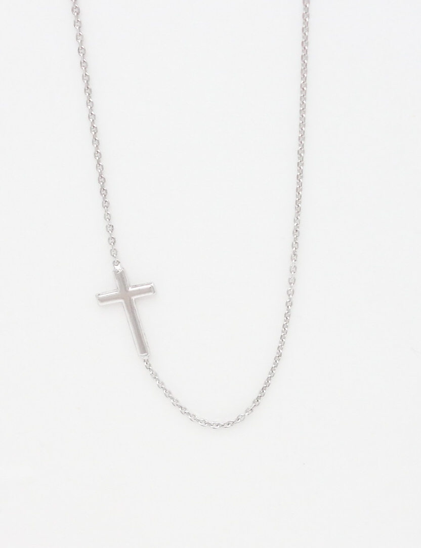 sterling silver cross chain