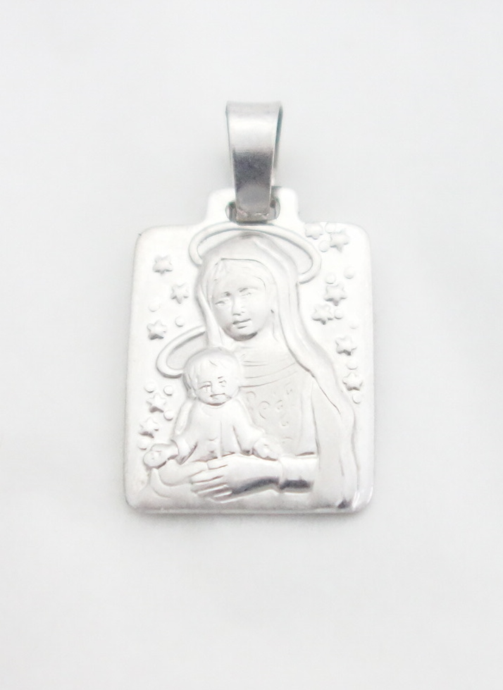 sterling silver madonna and child