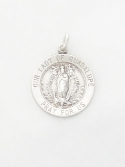sterling silver our lady of guadaloupe medal