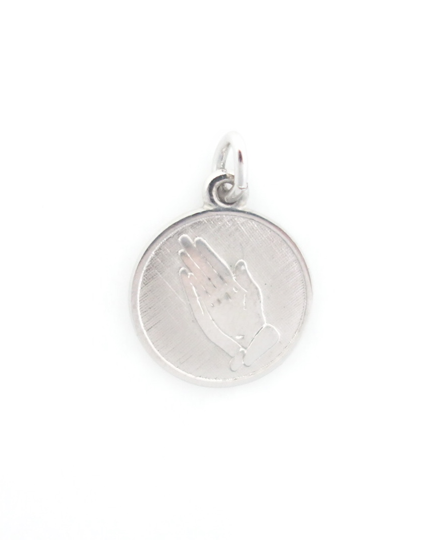 sterling silver praying hands charm