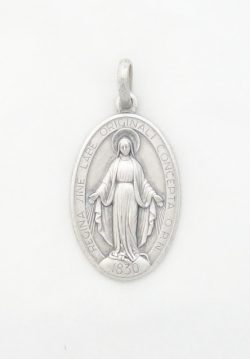sterling siver Miraculous medal large