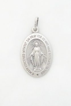 sterling siver Miraculous medal medium