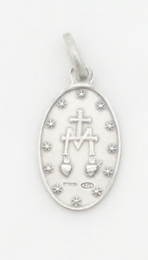 sterling siver Miraculous medal small (back)