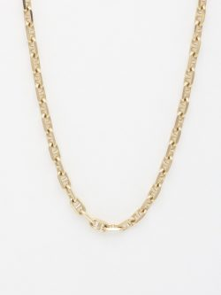 14k anchor link chain large