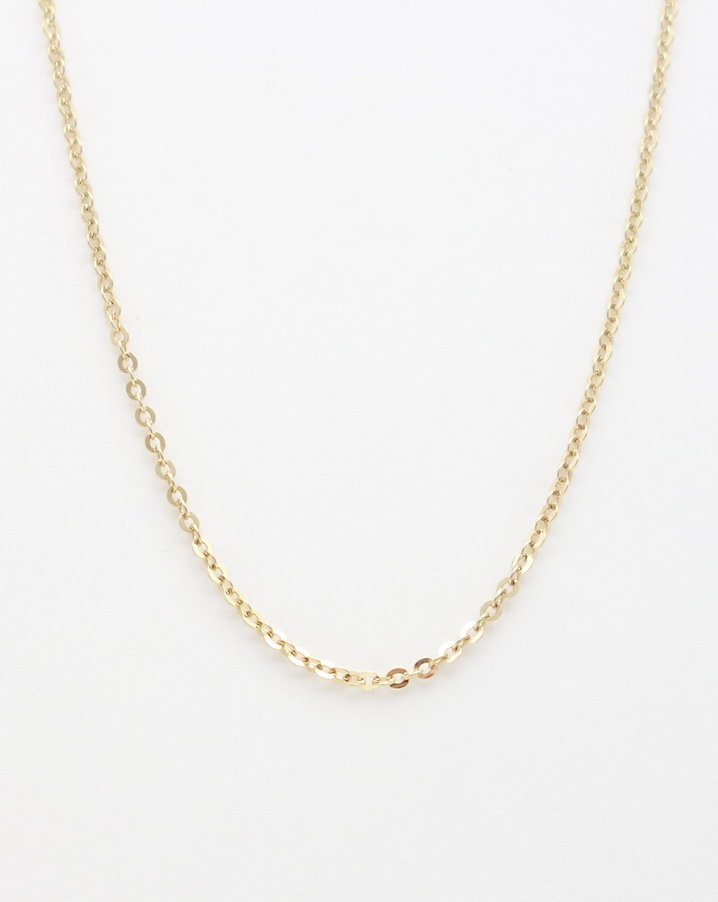 14k battuta chain small