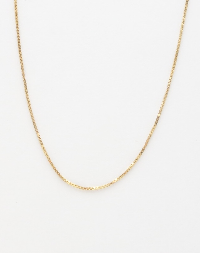 14k box chain medium 18'