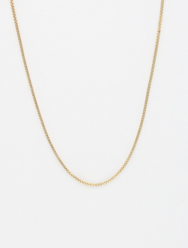 14k box chain small 18'