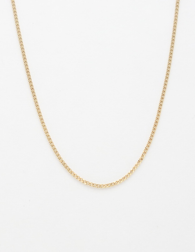 14k curb chain small