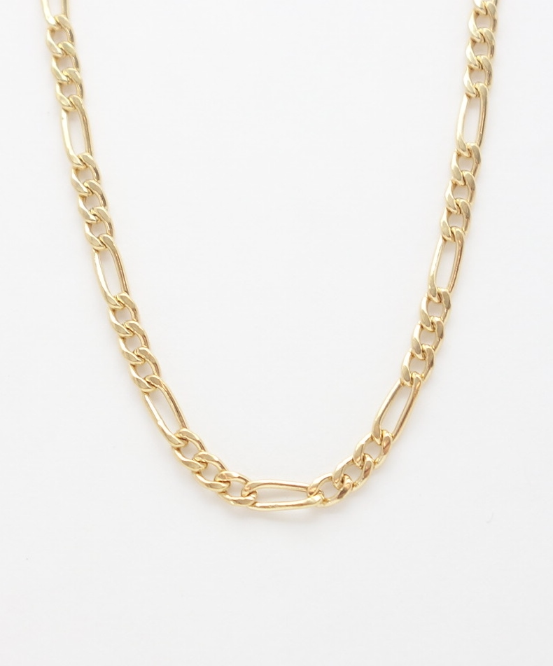 14k figaro chain medium