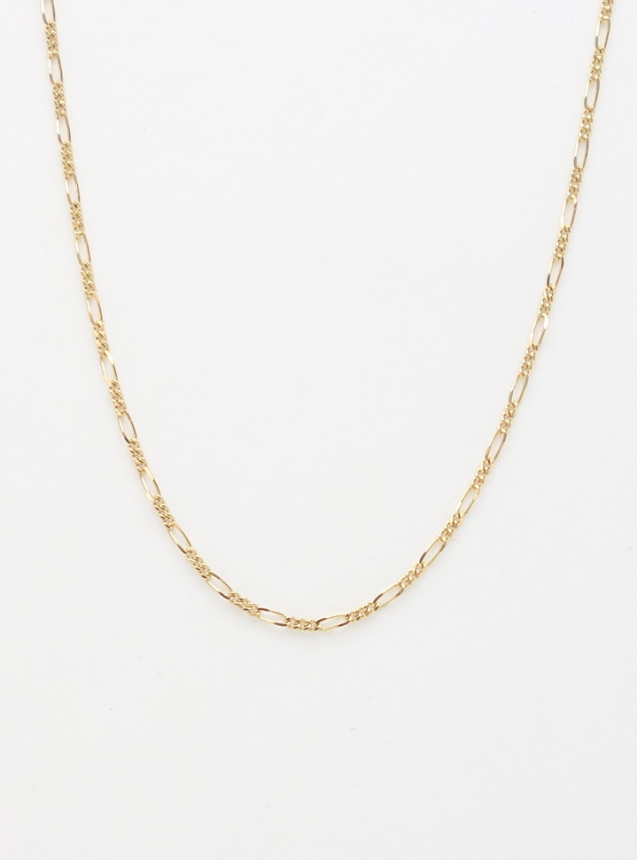 14k figaro chain small 18'