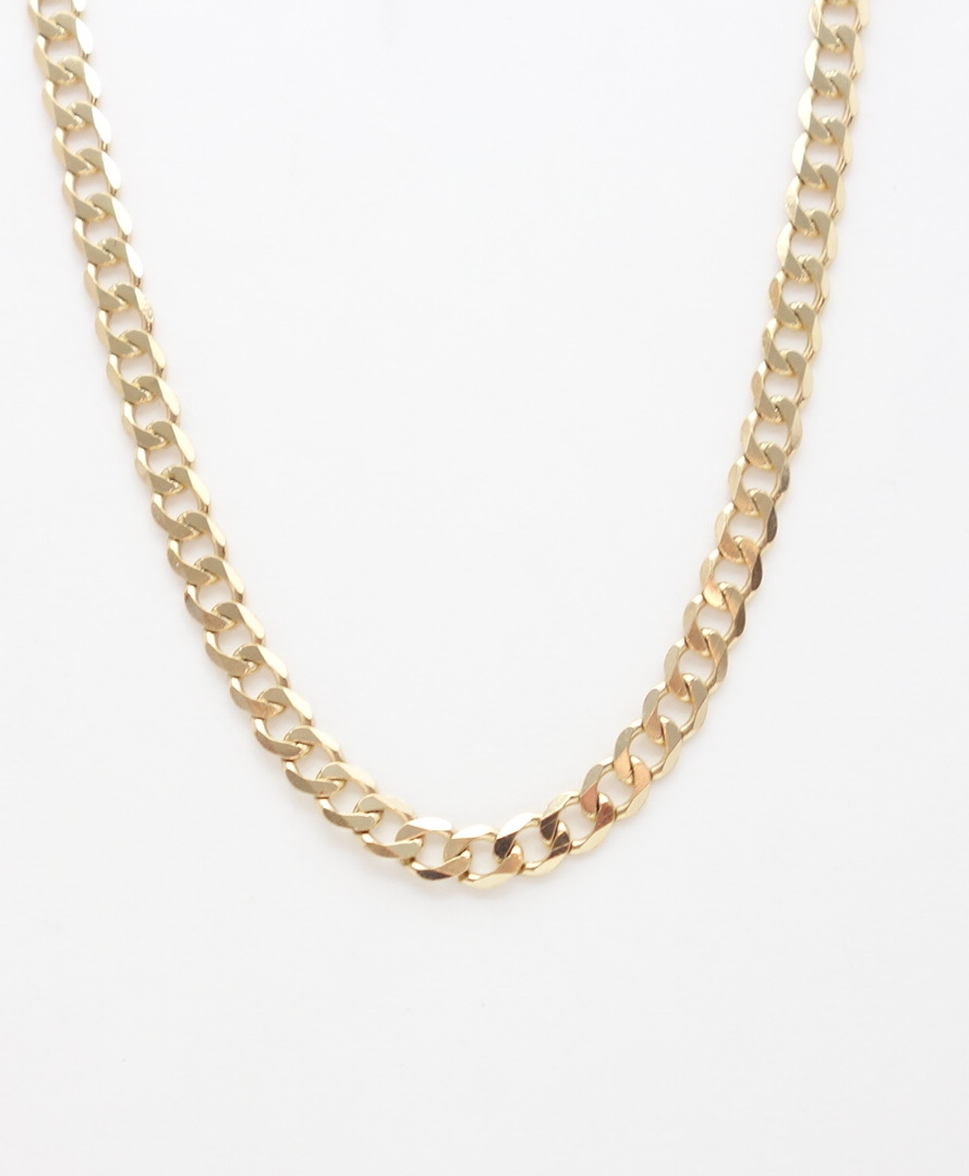 14k round link chain large