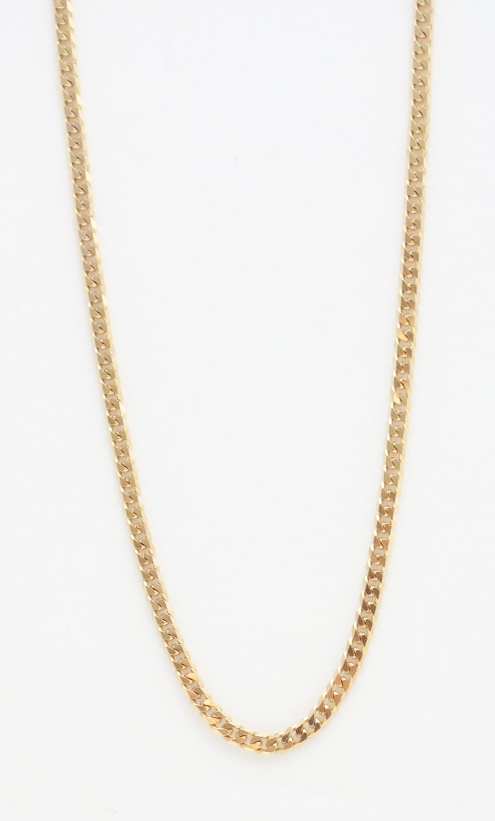 14k round link chain small