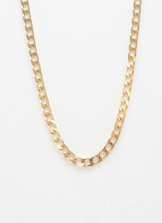 14k square link chain
