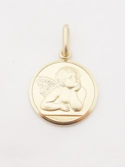 14k solid angel lrg