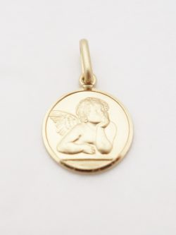 14k solid angel med