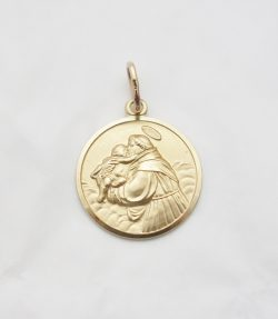 14k st.anthony medal xxlrg