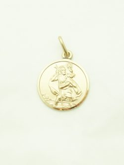 14k st.christopher medal medium