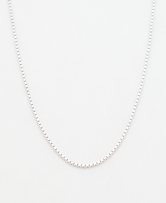14k white gold box chain