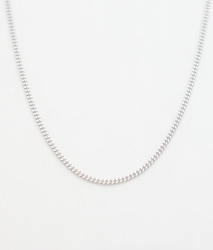14k white gold curb chain 18'