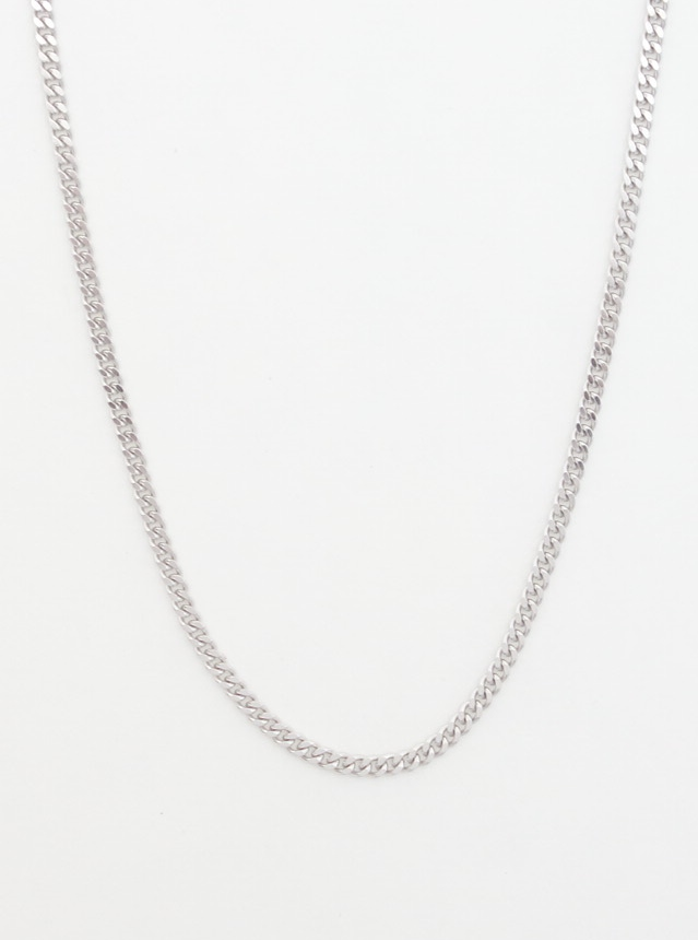 14k white gold curb chain