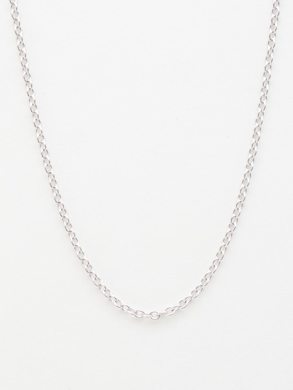 14k white gold rolo chain 18'