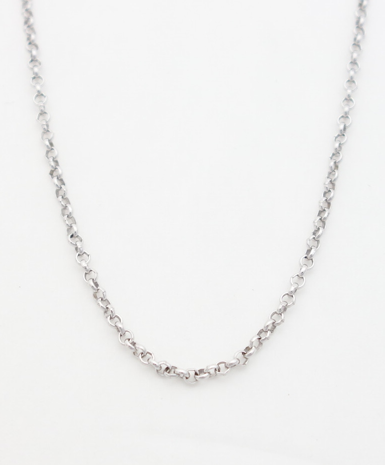 14k white gold rolo chain