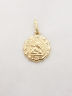 14k angel medal sml