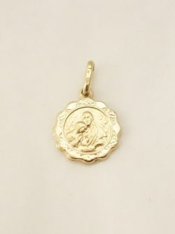 14k hollow communion medal sml