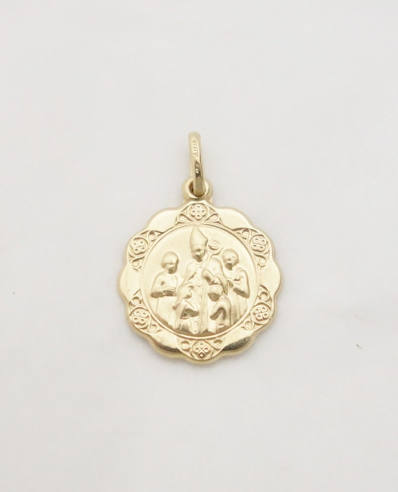 14k hollow confirmation medal lrg