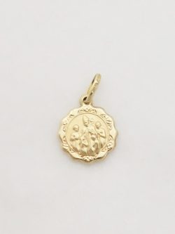 14k hollow confirmation medal sml